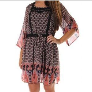 MISS ME Boho Hippie Paisley Floral Summer Dress